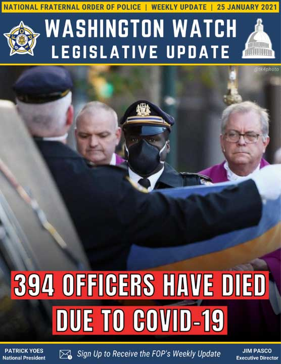 394 Officers Have Died Due to COVID-19