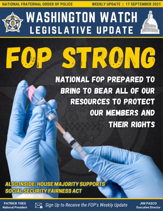 Washington Watch: Legislative Update, 10 September 2021